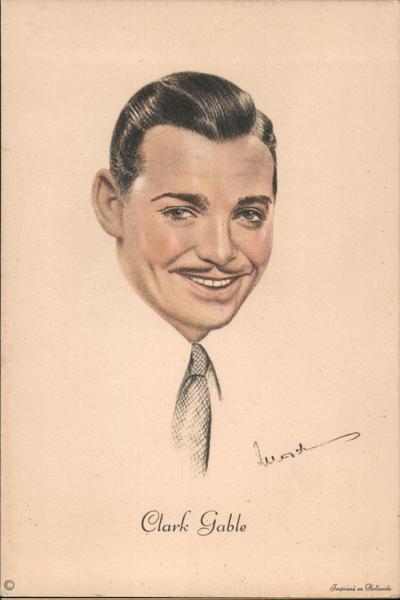 Clark Gable portrait Actors