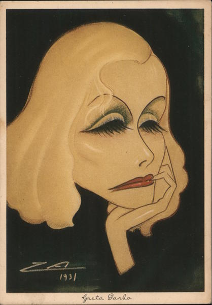 Caricature Greta Garbo, 1931 Actresses