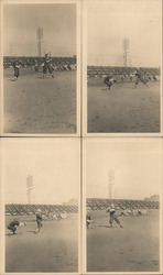 Set of 4: 1922 San Francisco Baseball Photographs Original Photograph