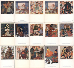 Set of 15: Juvenile Art Classes, Franz Cizek Postcard