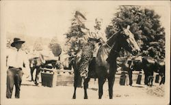 De Mille Motion Picture Co. filming a Western at Guerneville, CA, 1925 Original Photograph