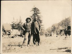 De Mille Motion Picture Co. filming a Western at Guerneville CA, 1925 Original Photograph