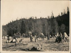 De Mille Motion Picture Co. filming a Western on location in Guerneville, CA, 1925 Original Photograph
