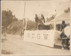 N.D.G.W. horse drawn float in parade Original Photograph