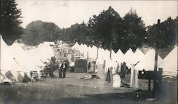 Scene in Golden Gate Park, tents, refugees from earthquake and fire 1906 Original Photograph