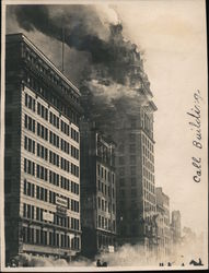 Call Building on Fire, 1906 Original Photograph
