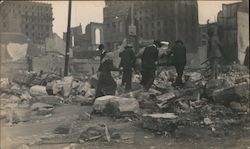 San Francisco refugees amid the rubble after the 1906 earthquake and fire Original Photograph