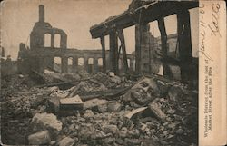 Ruins of Wholesale District from the foot of Market St. after the fire Postcard