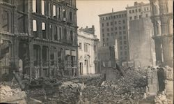 California and Montgomery Street - Earthquake Damage Original Photograph