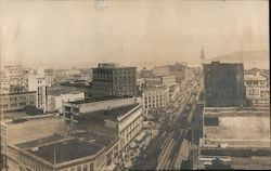 Bird's eye view of market street Original Photograph