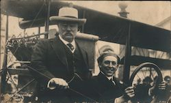 Rare President Roosevelt with Art Smith in biplane. PPIE Original Photograph