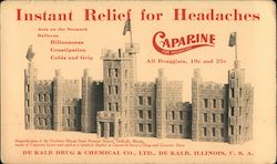 Instand Relief For Headaches: Caparine / De Kalb Drub & Chemical Co. Blotter