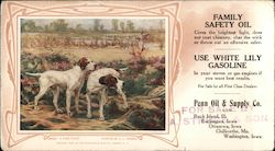 Penn oil & Supply Co. - A Fine Point painting, hunting dogs Blotter