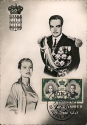Royal Wedding S.A.S. Rainier III & Miss Grace Kelly Postcard