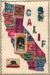 State of California, Hand Made Postcard Postcard