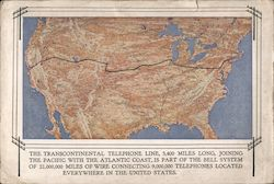 Transcontinental Telephone Line Postcard