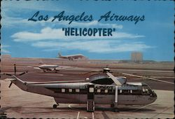 "Los Angeles Airways ""Helicopter"" Copter-Liner Postcard"