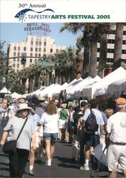 30th Annual Tapestry Arts Festival 2005, map, street view Postcard