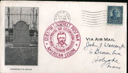 Theodore Roosevelt grave, Quentin Roosevelt American Legion Post No. 4 - Envelope Cover