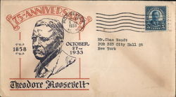 75th Anniversary of birth of Theodore Roosevelt Cover
