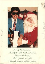 Frosty the salesman and santa. Scandur & Newman Productions Comedy Carols Postcard