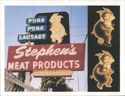 Stephen's Meat Products Postcard