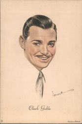 Clark Gable portrait Postcard