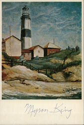 """Montauk Light House"" by Myron King Postcard"