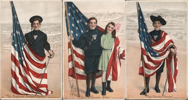 Lot of 3: Patriotic Children, US Flag