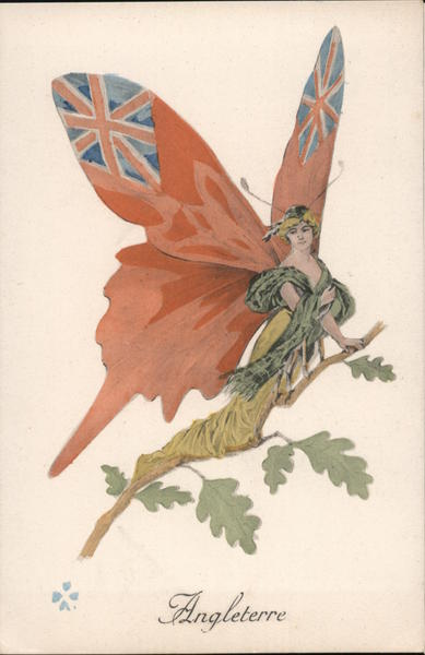 Angleterre - Fairy Girl with British Flag as wings UK