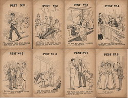 "Set of 8: ""The Pest"" Postcard"