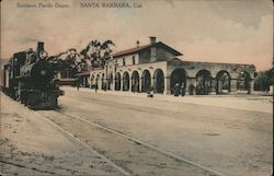 Southern Pacific Depot. Postcard