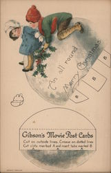 An All Round Merry Christmas - Gibson's Movie Post Cards
