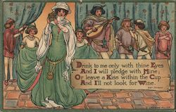 Drink to Me Only with Thine Eyes - To Celia by Ben Jonson Postcard