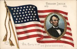 "Abraham Lincoln 1809-1865 ""With Charity to All and Malice Toward None"" Postcard"
