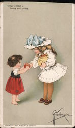 Friday's Child is loving and giving Postcard