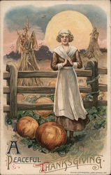 A Peaceful Thanksgiving Postcard