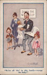 """We're all 'dry' in theis family - except the baby!"" Postcard"