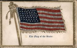 The flag of the Brave, metallic Postcard