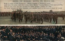 Boys In Knaki, Boys In Blue (British Soldiers and Sailors) 1916