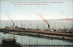 Great Northern Dock. Minnesota and Dakota, largest freight steamers in the world