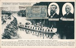 "Packet Boat ""Marshall"", Queen of the James River and Kanawha Fleet Postcard"