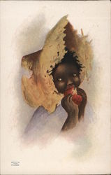 Black Girl in Big Straw Hat, Cockrell - Swift Pride Soap Trade Card
