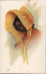 Black Girl in a Prairie Hat by Cockrell - Swift's Pride Soap Trade Card