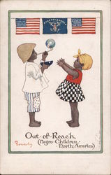 Out of Reach - (Negro Children - North America) Postcard