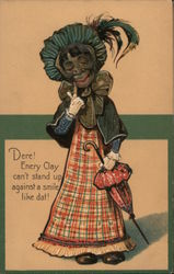 Dere! Enery Clay can't stand up against a smile like dat! Mammy putting on lipstick Postcard