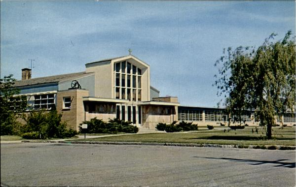 Our Lady, Queen of Martyrs Church and School(Dedicated 1960) Woonsocket Rhode Island