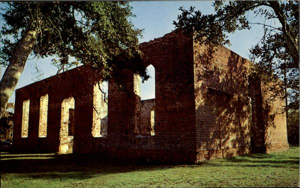 Ruins of the St. Philips Church Near Wilmington North Carolina