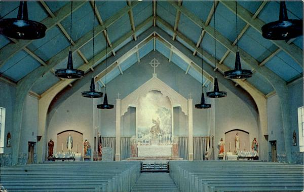 Interior Of New St. Francis Of Assisi Catholic Church Auburn New York