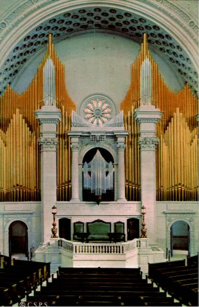 Platform And Organ In The First Church Of Christ, Scientist Boston Massachusetts